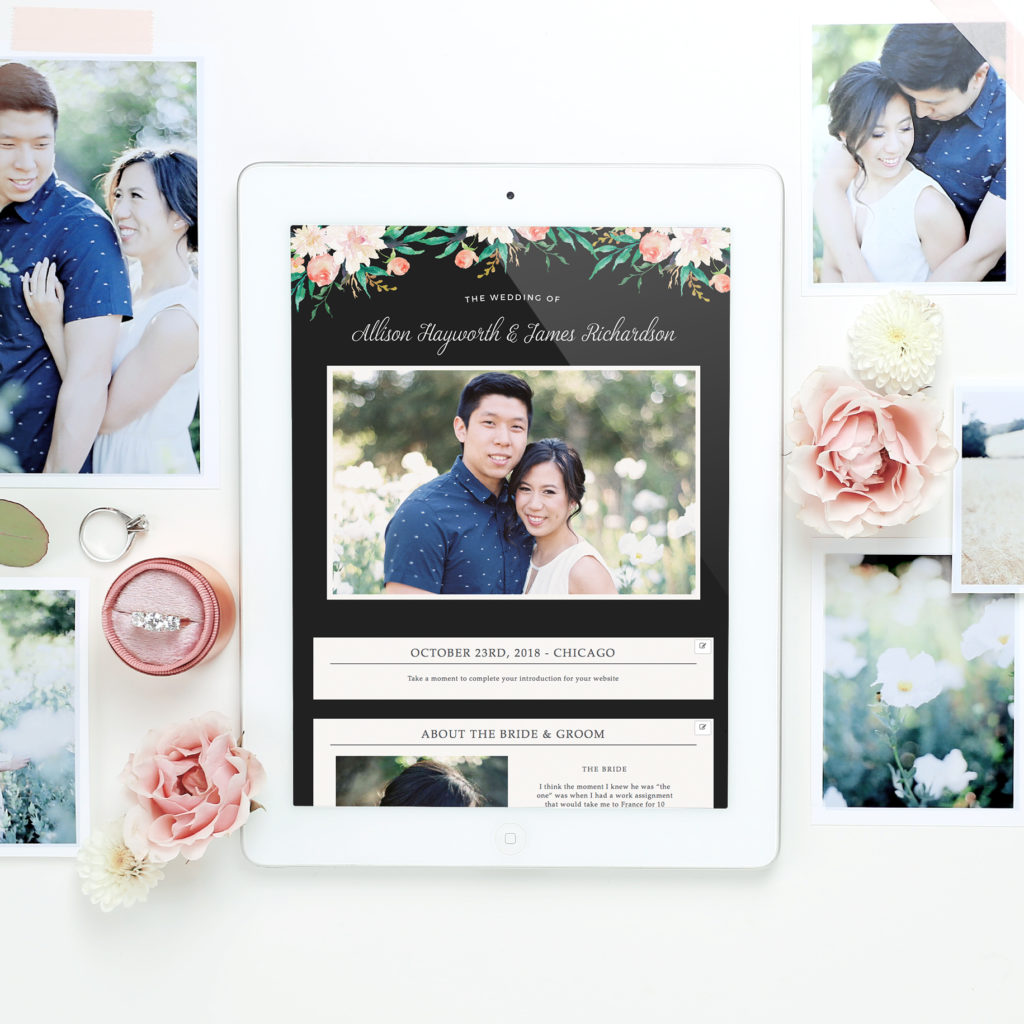 Spring Wedding Invitations and Websites