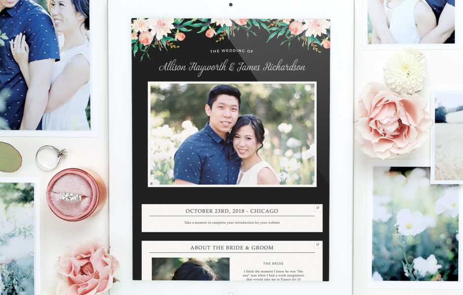 wedding website and invitations