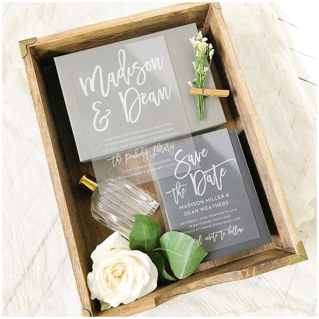 Save The Date Wedding Invitations For Brides in Wood Box