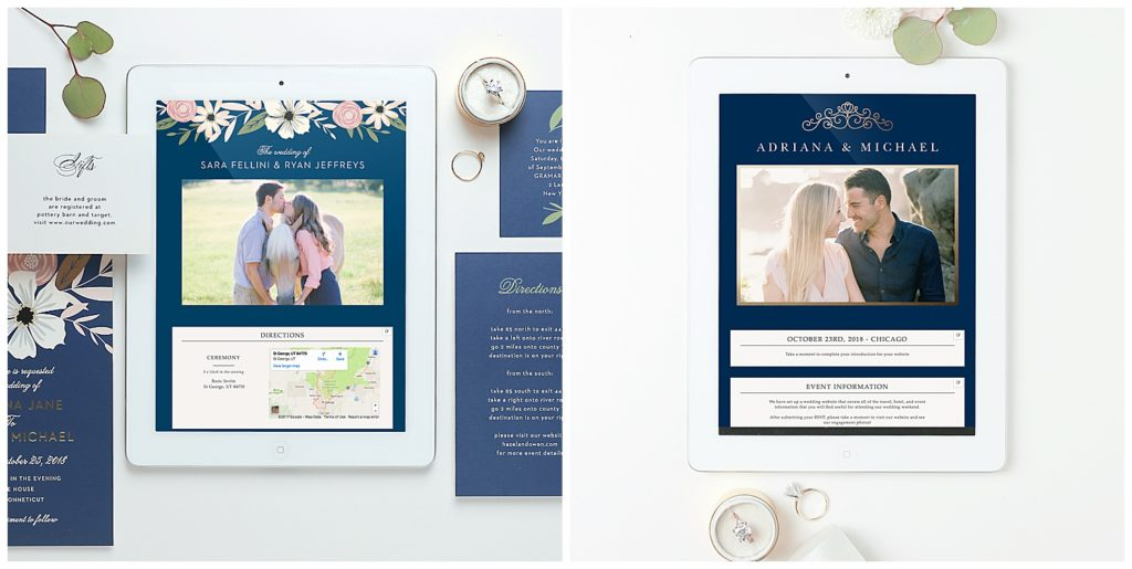 Save The Date Wedding Invitations For Brides With Wedding Website