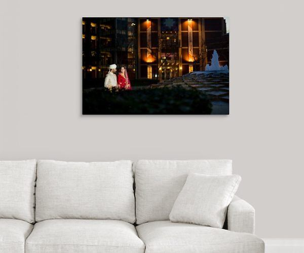 Canvas Wrap Display in Living Room